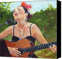 Singer Painting Canvas Prints - Corrido Canvas Print by Bonnie Rinier
