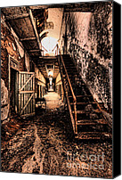 Rusty Door Canvas Prints - Corridor Creep Canvas Print by Andrew Paranavitana