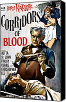 Horror Fantasy Movies Canvas Prints - Corridors Of Blood, Boris Karloff, 1958 Canvas Print by Everett
