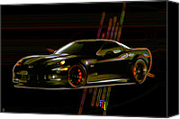 2012 Digital Art Canvas Prints - Corvette Canvas Print by Byron Fli Walker
