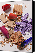 Make-up Canvas Prints - Cosmetics Mess Canvas Print by Garry Gay