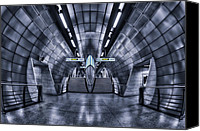 Subway Station Photo Canvas Prints - Cosmic Endeavors Canvas Print by Evelina Kremsdorf