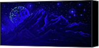 Glow In The Dark Art Canvas Prints - Cosmic Light Series Light Off Canvas Print by Len Sodenkamp