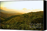 Rolling Hills Canvas Prints - Costa Rica Rolling Hills 2 Canvas Print by Madeline Ellis