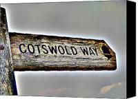Countryside Canvas Prints - Cotswold Way Canvas Print by Roberto Alamino