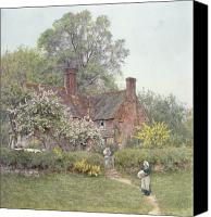 Friends Canvas Prints - Cottage at Chiddingfold Canvas Print by Helen Allingham