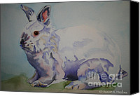 Soft Pastel Pet Portrait Canvas Prints - Cotton Canvas Print by Susan Herber