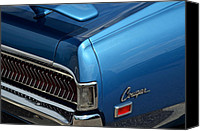 Blue Buick Canvas Prints - Cougar Canvas Print by Robert Harmon
