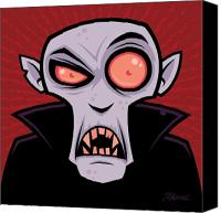Cartoon Canvas Prints - Count Dracula Canvas Print by John Schwegel