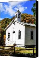 Wv Canvas Prints - Country Church Canvas Print by Thomas R Fletcher
