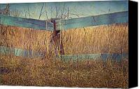 Buy Photos Online Canvas Prints - Country Fence Canvas Print by Steven  Michael