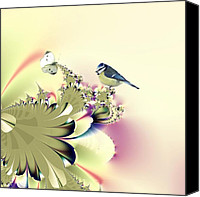 Flora Canvas Prints - Country Garden Canvas Print by Sharon Lisa Clarke