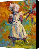 Pioneers Painting Canvas Prints - Country Girl Canvas Print by Marion Rose