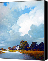 House Painting Canvas Prints - Country Home Canvas Print by Kevin Lawrence Leveque