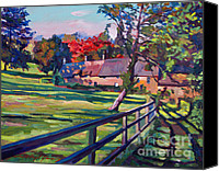 Fences Canvas Prints - Country House Canvas Print by David Lloyd Glover