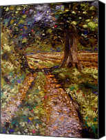 Landscape Pastels Canvas Prints - Country Lane Canvas Print by John  Nolan
