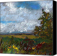 Landscapes Pastels Canvas Prints - Countryside II Canvas Print by David Patterson