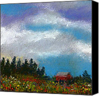 Landscapes Pastels Canvas Prints - Countryside III Canvas Print by David Patterson