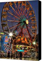 Photographers Atlanta Canvas Prints - County Fair Ferris Wheel Canvas Print by Corky Willis Atlanta Photography