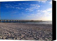 Panama City Beach Fl Canvas Prints - County Pier Canvas Print by Victor Pacheco