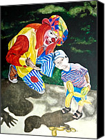 Clowns Canvas Prints - Couple of Clowns Canvas Print by Lance Gebhardt