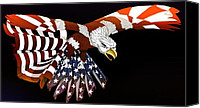 4th July Canvas Prints - Courage Canvas Print by Charles Drummond