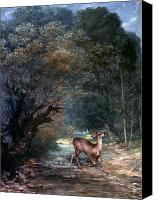 Roe Deer Canvas Prints - Courbet: Hunted Deer, 1866 Canvas Print by Granger