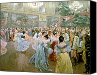 Chandelier Canvas Prints - Court Ball at the Hofburg Canvas Print by Wilhelm Gause