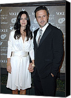 Black Tie Photo Canvas Prints - Courteney Cox Arquette,david Arquette Canvas Print by Everett