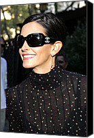 Red Canvas Prints - Courteney Cox Wearing Chanel Sunglasses Canvas Print by Everett
