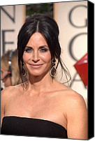 Updo Canvas Prints - Courteney Cox Wearing Ofira Schwartz Canvas Print by Everett