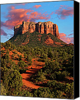 Desert Southwest Canvas Prints - Courthouse Rock Vortex Canvas Print by Jeffrey Campbell