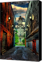 Alley Canvas Prints - Courthouse Canvas Print by Tom Mc Nemar