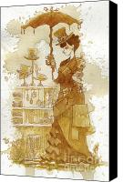 Steampunk Canvas Prints - Couture Canvas Print by Brian Kesinger