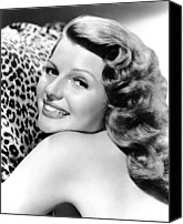 1940s Portraits Canvas Prints - Cover Girl, Rita Hayworth, 1944 Canvas Print by Everett