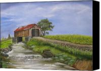 Rj Mcnall Canvas Prints - Covered Bridge Canvas Print by RJ McNall