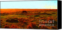 Bulls Canvas Prints - Cow Grazing In The Hills Canvas Print by Wingsdomain Art and Photography