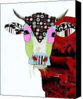 Cow Canvas Prints - Cow II Canvas Print by Michel  Keck