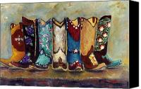 Ribbons Canvas Prints - Cowgirls Kickin the Blues Canvas Print by Frances Marino