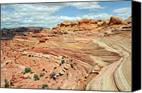 Natural Pattern Photo Canvas Prints - Coyote Buttes Canvas Print by David Hogan