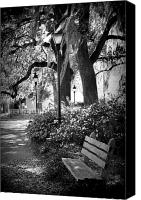 Savannah Square Canvas Prints - Cozy Corner in Savannah Canvas Print by Carol Groenen
