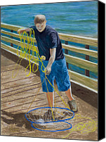 Young Pastels Canvas Prints - Crab Boy Canvas Print by James Geddes