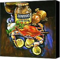 Beer Canvas Prints - Crab Fixins Canvas Print by Dianne Parks