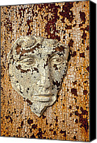 Still Life Sculpture Photo Canvas Prints - Cracked face Canvas Print by Garry Gay