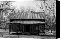 House Canvas Prints - Cracker Cabin Canvas Print by David Lee Thompson