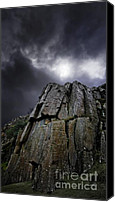 Storm Photo Canvas Prints - Crags Canvas Print by Meirion Matthias