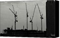 Rotterdam Canvas Prints - Crane Ballet Canvas Print by Dean Harte