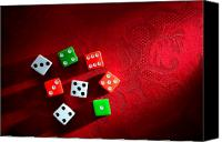 Gambling Canvas Prints - Craps  Canvas Print by Olivier Le Queinec