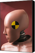 Humanlike Canvas Prints - Crash test dummy Canvas Print by Garry Gay