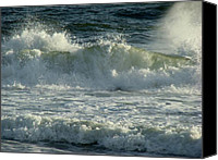 Panama City Beach Fl Canvas Prints - Crashing Wave Canvas Print by Sandy Keeton